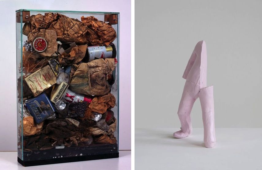 ARMAN - Déchets bourgeois, Erwin Wurm, Untitled (Alphabet), 2016
