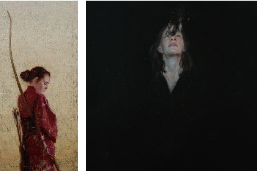Left Aaron Westerberg -Meditations on a Myth Right Denrik Uldalen - Depart