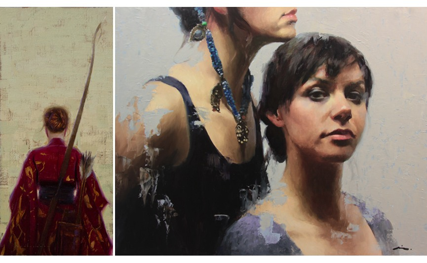 Left Aaron Westerberg - Study for Bowhunter Right Mia Bergeron - following