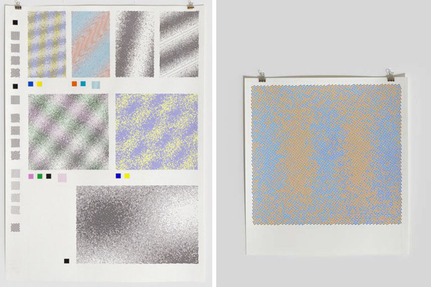 Left- Adrien Lucca - Wave Patterns Study 1 2016; Right- Adrien Lucca - Wave Patterns Series 1 #9 2016