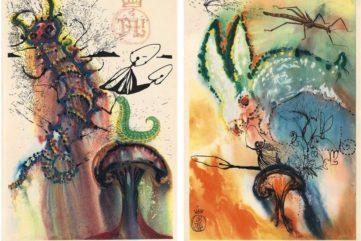 Salvador Dalí, Advice From a Caterpillar, Down the Rabbit Hole