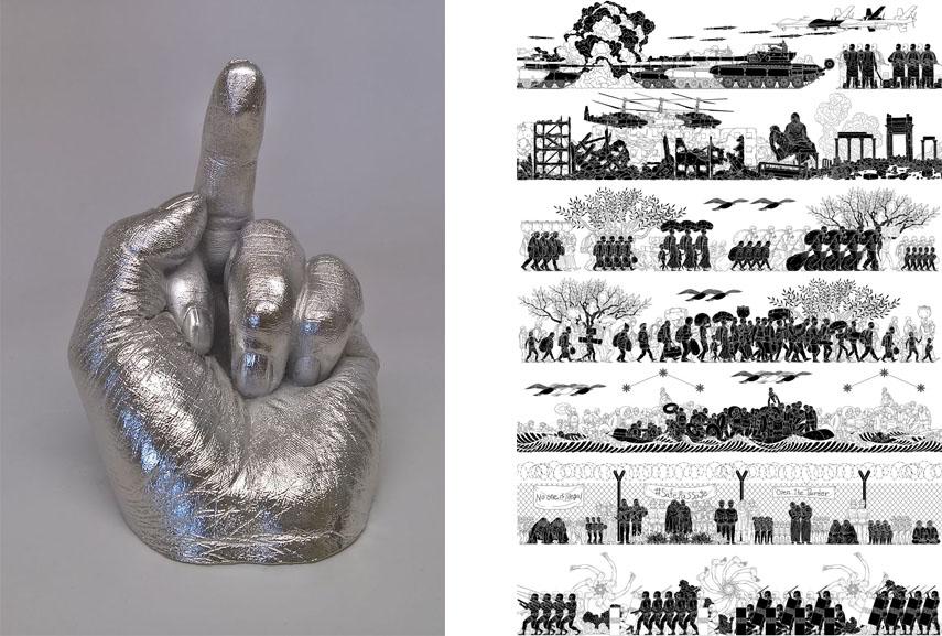 Left Ai Weiwei - Artist's Hand Right Ai Weiwei - Odyssey