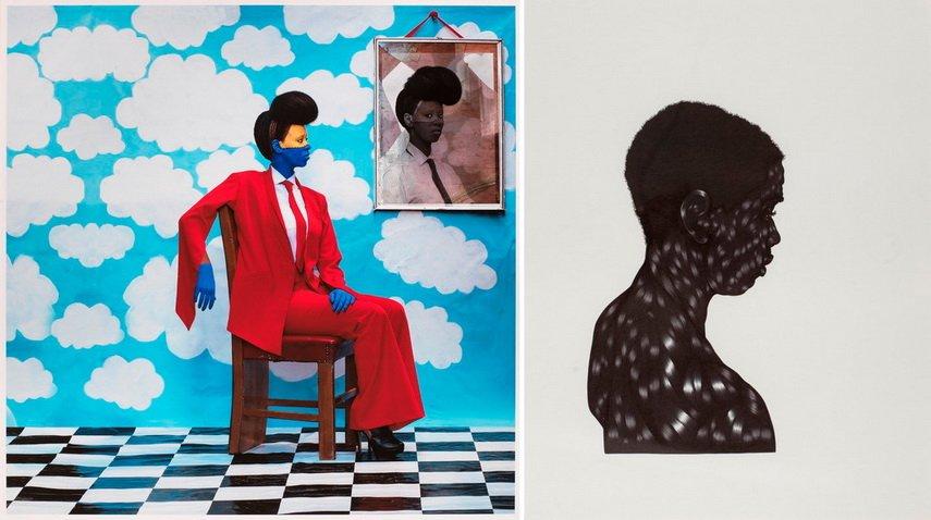 Left Aida Muluneh - Sai Mado Right Toyin Odutola - Untitled