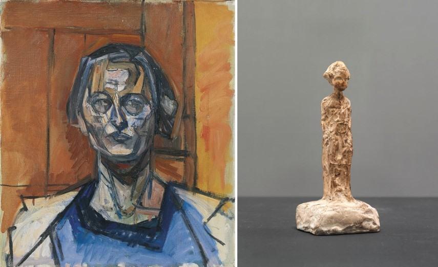 Left Alberto Giacometti - Ottilia Right Alberto Giacometti - Silvio debout