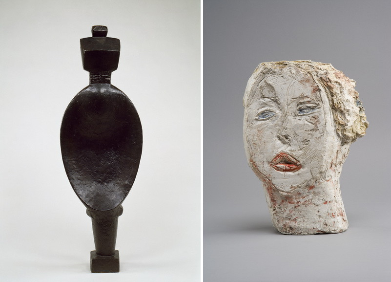 Left Spoon Woman (Femme cuillère), 1926 RightHead of a Woman (Flora Mayo) (Tête de femme [Flora Mayo]), 1926