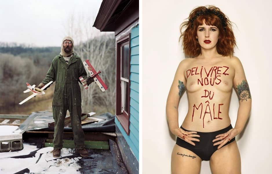 Alec Soth - Charles, Vasa, Minnesota, from 'Sleeping by the Mississippi, 2017 , Bettina Rheims - Sarah Constantin, Délivrez nous du Mâle, mai 2017, Paris, 2017