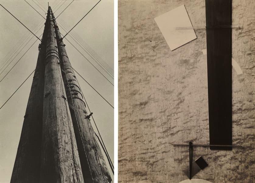 Aleksandr Rodchenko - Radio Station Tower, 1929, El Lissitzky - Proun in Material (Proun 83), 1924