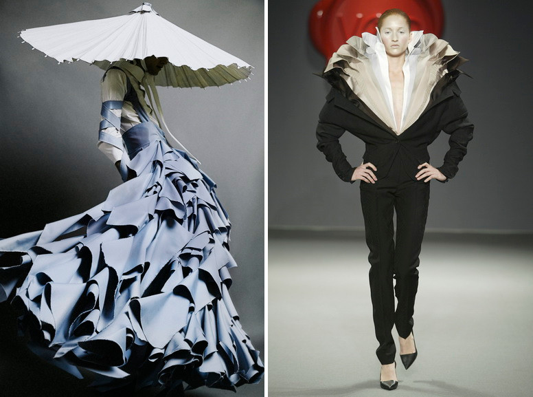 Left Alessandro Trincone - Annodami collection Right Viktor and Rolf - One Woman Show