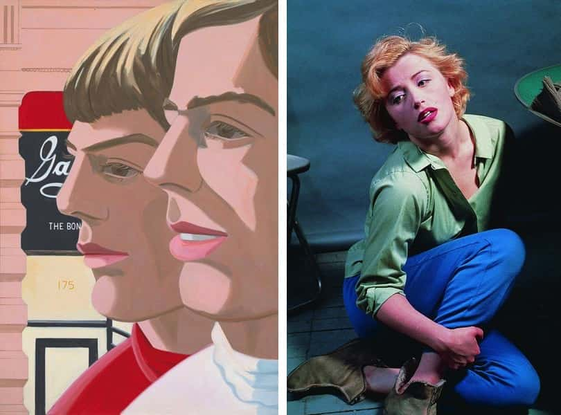 Alex Katz, Scott and John, 1966, Cindy Sherman, Untitled Marilyn, 1982