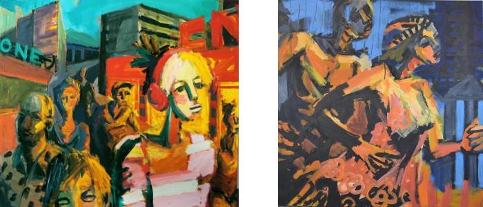 Left - Alexandre Akar - Music -2011, Right - Alexandre Akar - Run, 2014, photo credits - artist