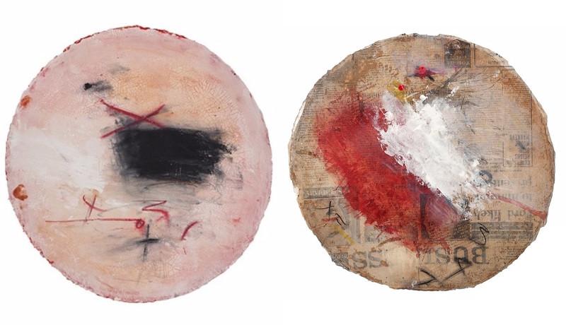 Left Alfredo Scaroina - Composición #037, 2015, Right Alfredo Scaroina - Composición #036, 2015