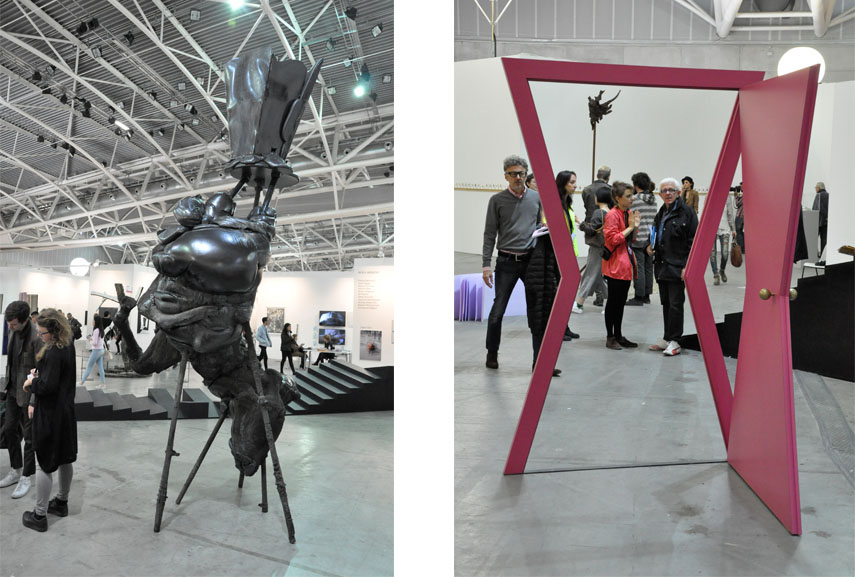 Left: Alis/Filliol - Mofocracy, 2014 / Right: Michelangelo Pistoletto - Porta - Segno Arte, 1976-97
