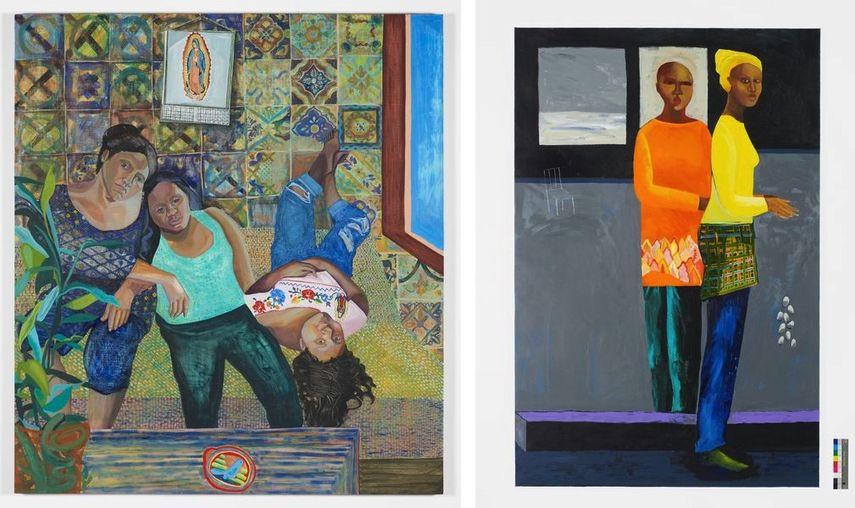 Aliza Niesenbaum - Las Talaveritas, 2015 , Lubaina Himid, Her Print on Me, 2017-18