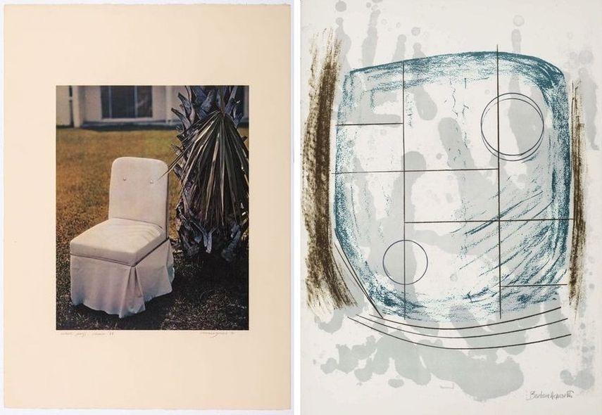 Allen Jones - Florida Suite – Chair (A), 1968, Barbara Hepworth - Cool Moon, 1970
