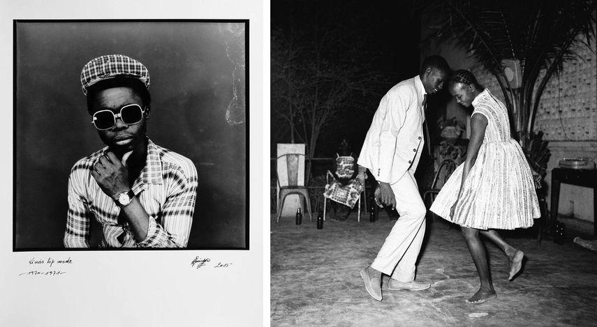 Ambroise Ngayimoko - Kinois top mod, 1970-71, Malick Sidibe - Nuit de Noel (happy Club), 1963