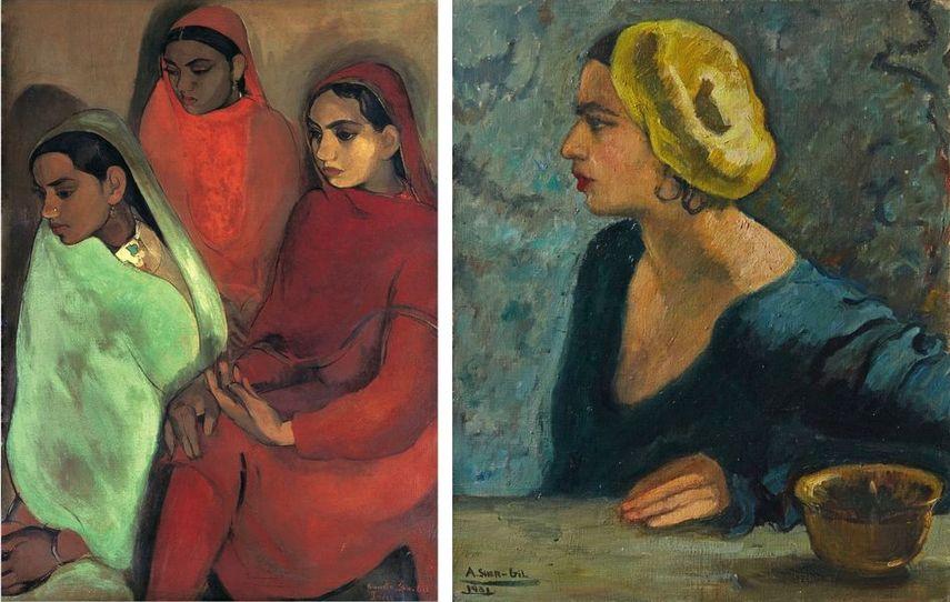 Group of Three Girls, 1935, Self-portrait, 1931