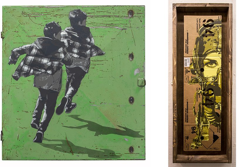 Left:  Anders Gjennestad - Runners / Right: Tankpetrol - Pilott 94 street exhibitions 23rd 557c west 20th 529 contact