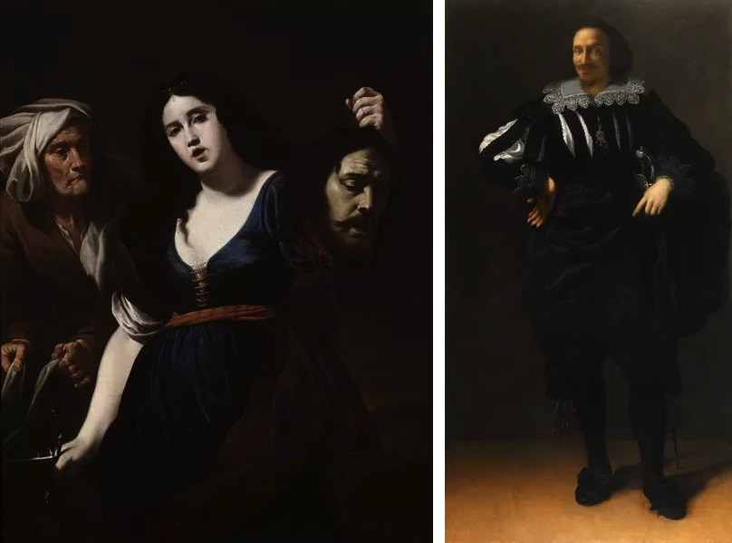 Andrea Vaccaro - Judith with the Head of Holofernes, c. 1630s, Artemisia Gentileschi - Portrait of a Gentleman (Antoine De Ville), c. 1625-40