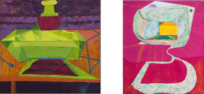 Left - Andrzej Zielinski - Paused Printer, 2012, Right - Andrzej Zielinski - Blanco ATM #1, 2010, photo credits - artist