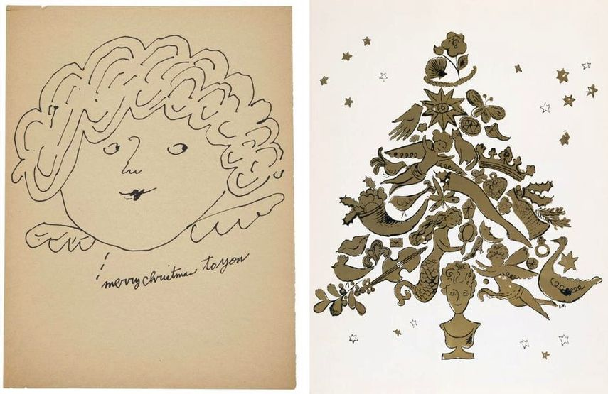 andy warhol christmas angels christmas cards