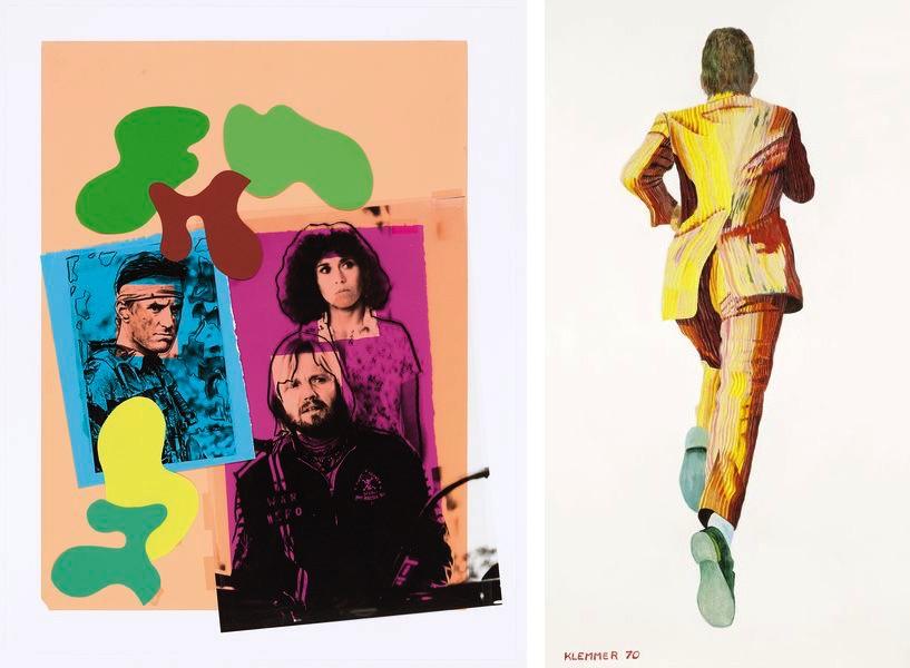 Andy Warhol - Coming Homedeer Hunter, 1978, Robert Klemmer - Laufender Klemmer, 1970, on view at the austrian international fair viennacontemporary