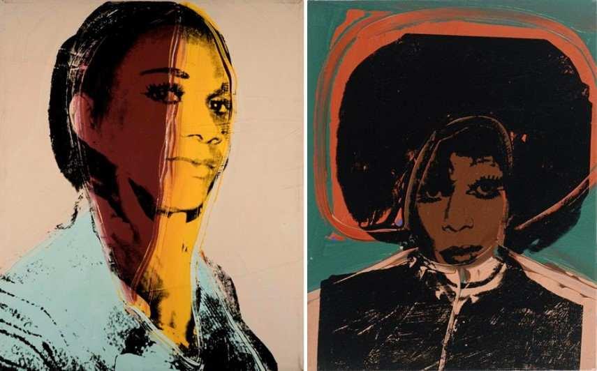 Drag Queens Left Andy Warhol - Ladies and Gentlemen Alphanso Panell Right Andy Warhol - Ladies and Gentlemen Helen Harry Morales