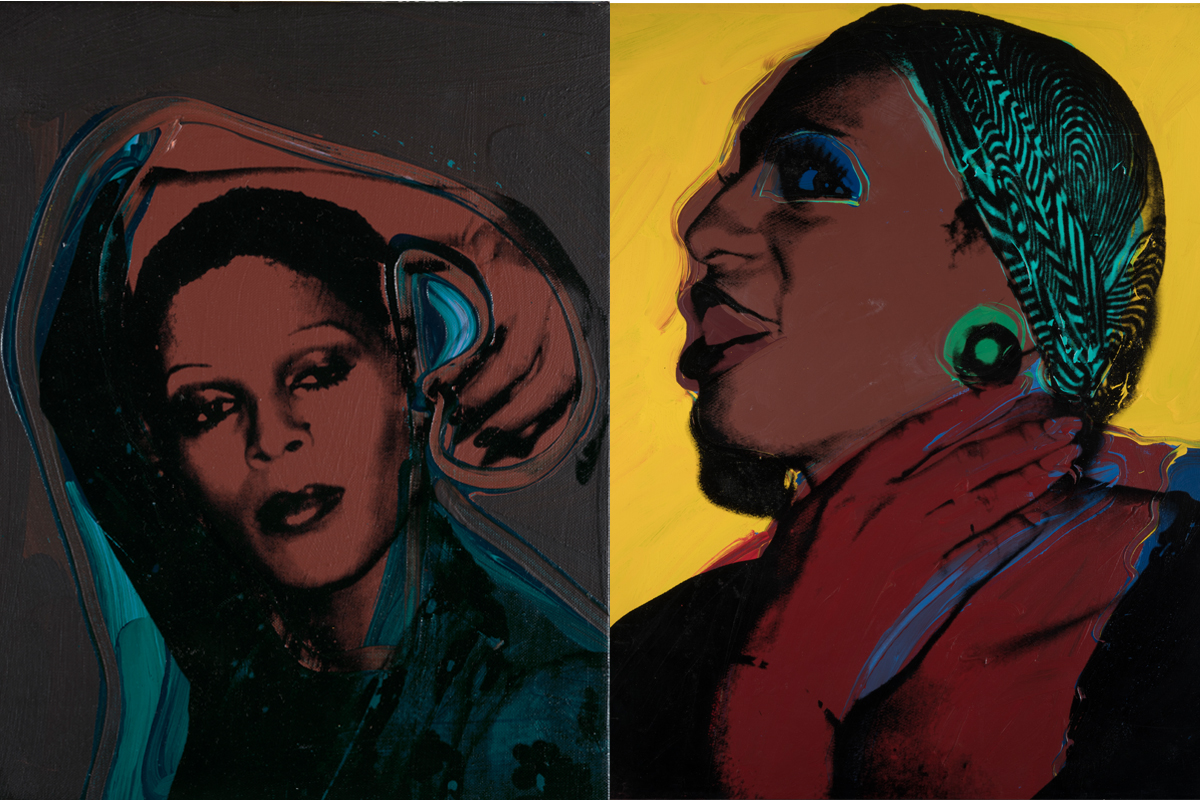 Drag Queens Left Andy Warhol - Ladies and Gentlemen (Iris) 1975 Right Andy Warhol - Ladies and Gentlemen (Wilhelmina Ross) 1975