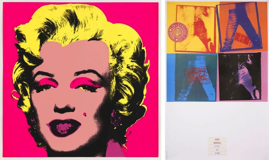 Andy Warhol - [No title] (Marilyn Monroe), 1967, Levi's 501 Jeans, 1984