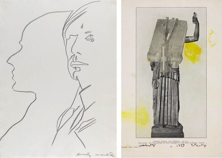 Andy Warhol - The Shadow, 1981, Eduardo Paolozzi - Untitled ('Athena Lemnia von Phydias'), 1953