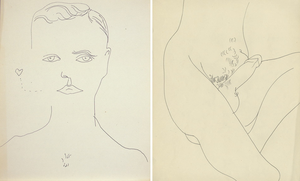 Left Andy Warhol - Unindentified Male Right Andy Warhol - Excited Male Torso