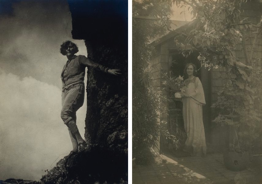 Anne Brigman - My Self, Photographer unknown, Untitled [Portrait of Anne Brigman]
