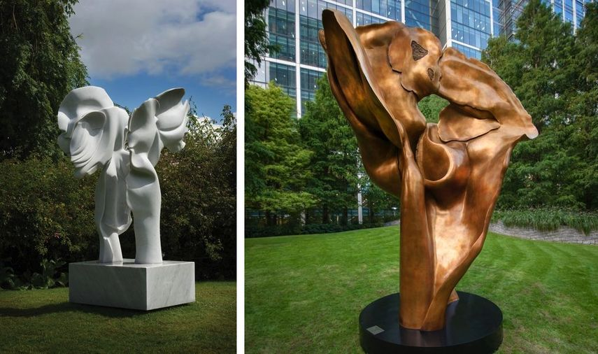 Angels Harmony, 2008, Fortuna (bronze), 2016 by the sculptor helaine blumenfeld