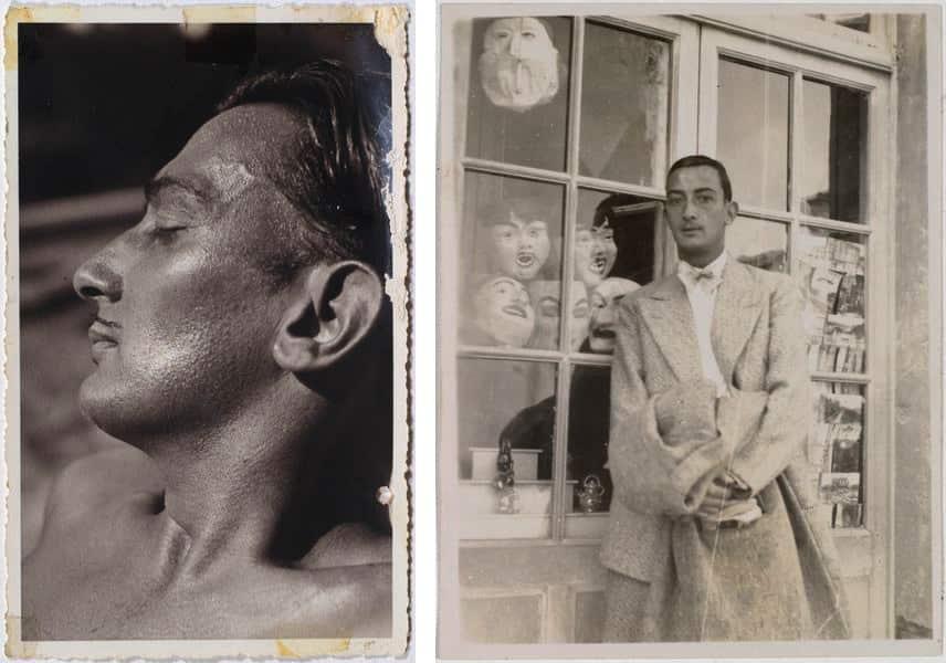 Anna Laetitia Pecci-Blunt - Portrait of Salvador Dalí at Villa Reale di Marlia, 1936, Gala - Salvador Dalí in Carry-le-Rouet, 1930