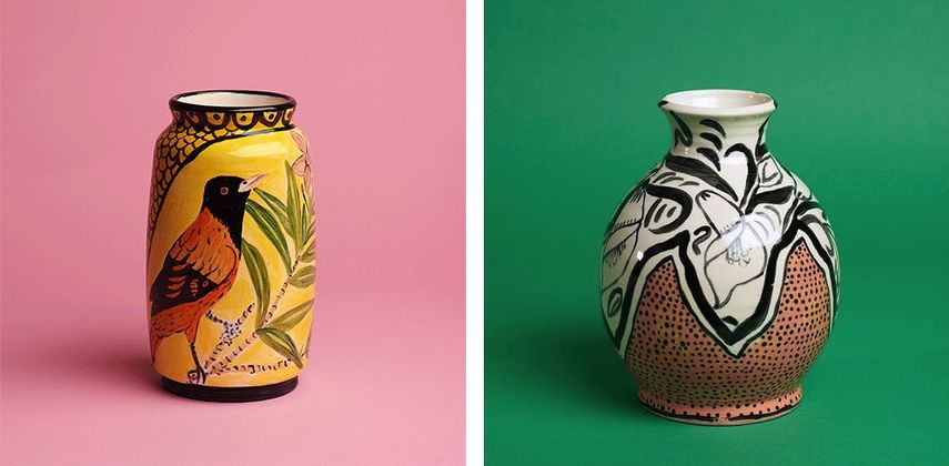 Bird Vase, 2019, Calla Lily Motif, 2019