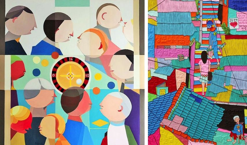 Annemarie Ambrosoli - Les Jeux Sont Faits, Seong Taejin - I Have A Dream at the Conrad Hong Kong - artworks at 2018 edition of the fair