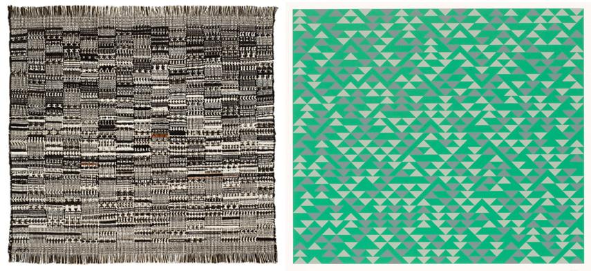 Left Anni Albers, Open Letter, 1958 Right Anni Albers, TR II, 1970