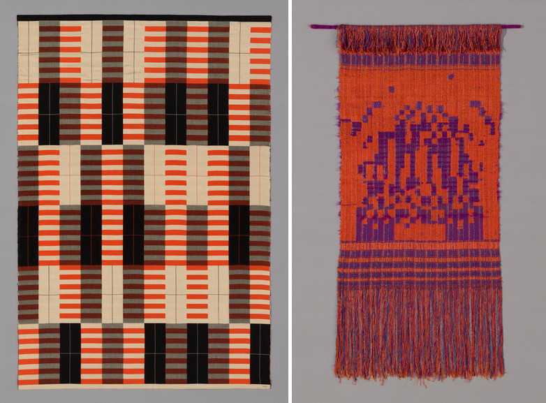 Left Anni Albers - Orange, Black and White Right Else Regensteiner - Glowing City