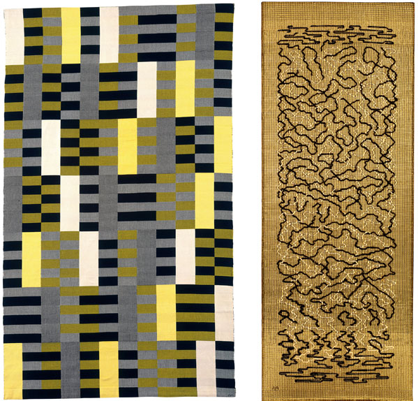 Left Anni-Albers,-Wall-Hanging,-1926 Right Anni-Albers,-Epitaph