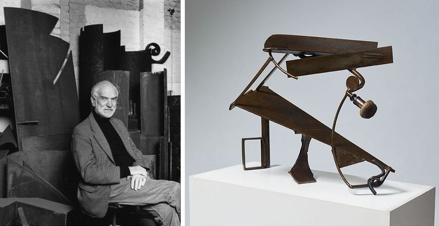 abstract collection of anthony caro celebrated the use of various materials.