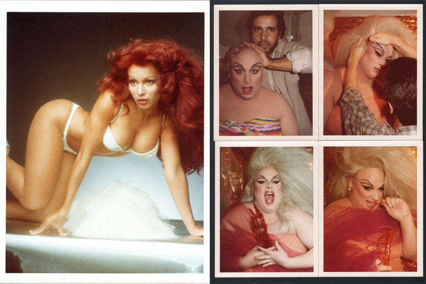 Left- Antonio Lopez - Iris Chacon 1976 - Kodak Instamatic; Right- Antonio Lopez - Divine 1977 - Kodak Instamatic prints