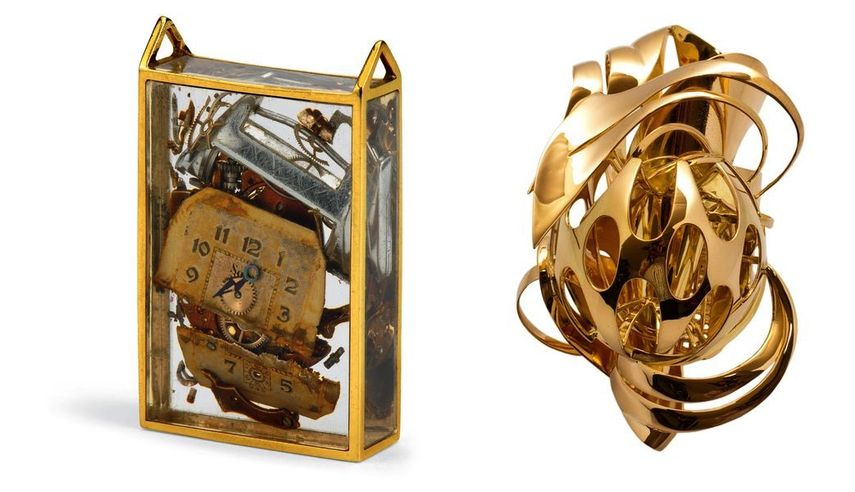 Arman, broche Inclusion, 1972, Frank Stella, bague, 2010