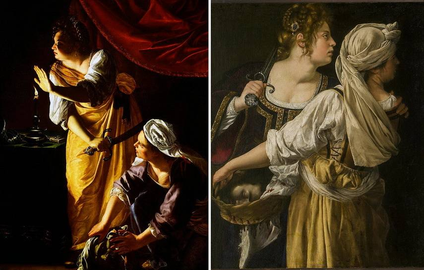 Who painted judith and maidservant with the head of holofernes