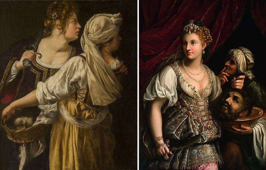 Left Artemisia Gentileschi - Judith and her maid Right Fede Galizia - Judith with the Head of Holofernes