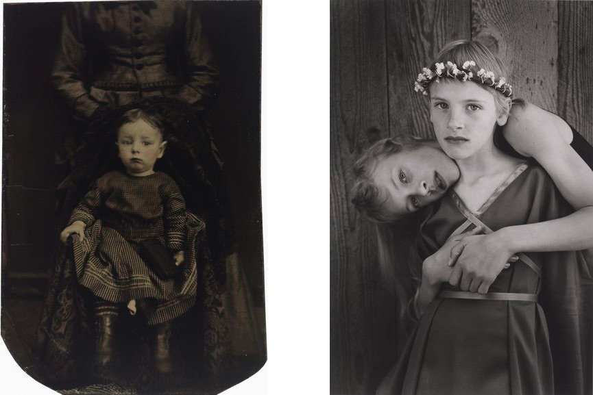 Artist Unidentified - Untitled, Hidden Mother, c. 1860s-70s, Jock Sturges - Misty Dawn and Alisa Northern California, 1989