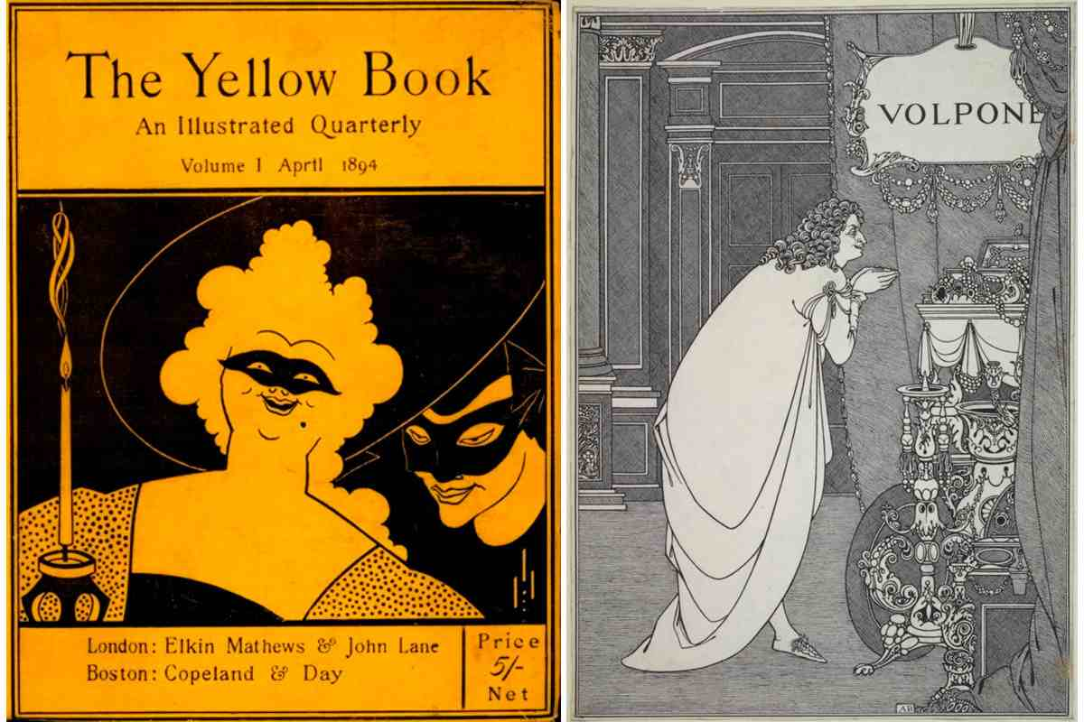 Left Aubrey Beardsley - The Yellow Book Right Aubrey Beardsley - Volpone Adoring his Treasure