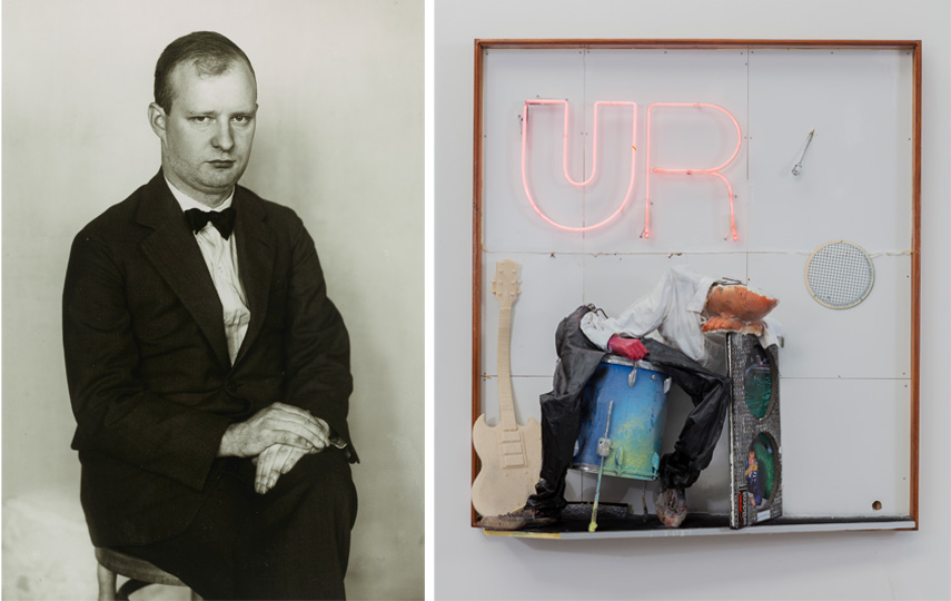 Left August Sander - der Komponist (Paul Hindemith), 1925 Right Joris van de Mortel - UR, 2019