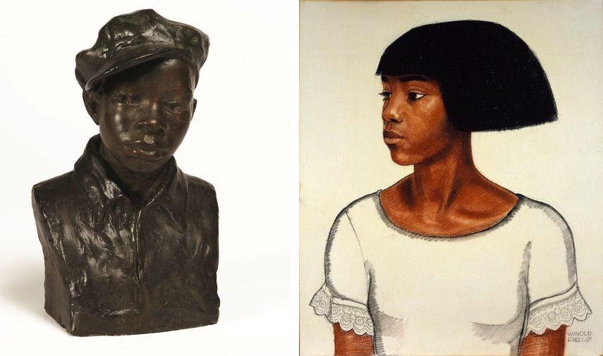 Augusta Savage - Gamin, ca. 1929, Winold Reiss - Harlem Girl, ca. 1925, African American