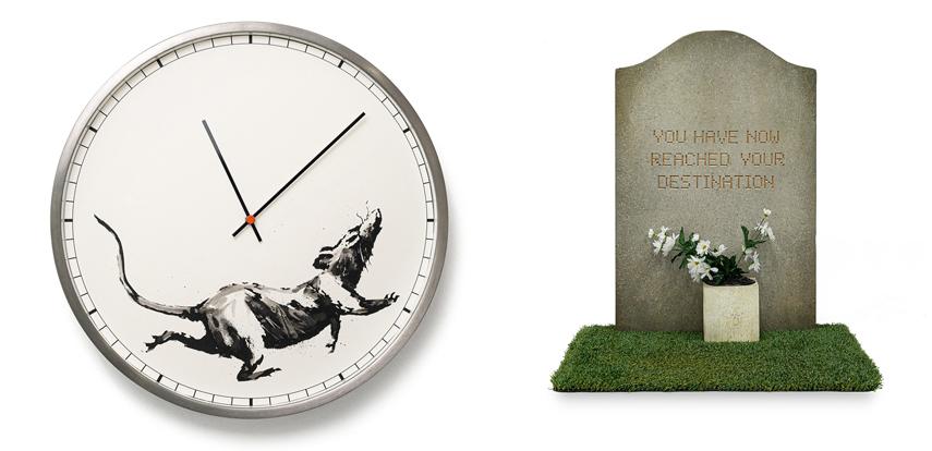 Left Banksy™ Clock Right Banksy™ Tombstone