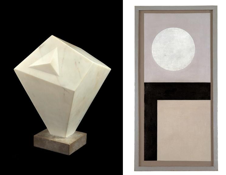 Left Barbara Hepworth - Form Right Ben Nicholson - Untitled