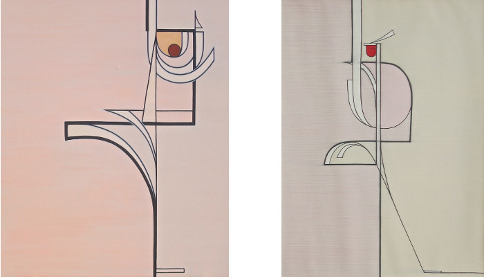 Left: Bart Exposito - Untitled #1, 2014 / Right: Bart Exposito - Untitled #2, 2014, photo credits - artist, abstract paintings